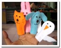 Boneka Jari Binatang isi  10