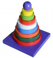 Menara Pelangi Bulat + Tatakan