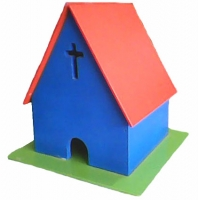 """Miniatur Rumah Ibadah """"Gereja"""""""