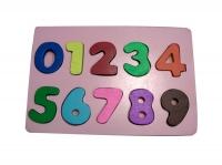Puzzle Angka 0-9 Timbul