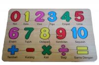 Puzzle Stiker Angka