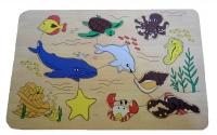 Puzzle Stiker Hewan Laut